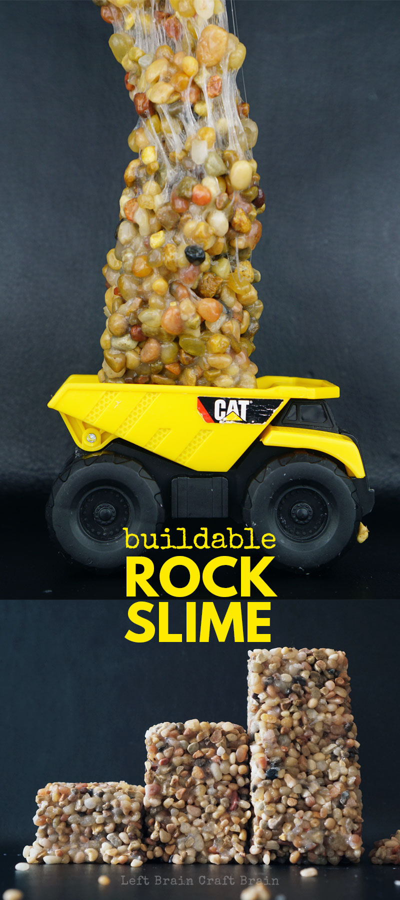 Kids love rocks. And kids love slime. But what they will REALLY LOVE is Rock Slime! Buildable Rock Slime that actually holds it's shape. (DIY kinetic rock)