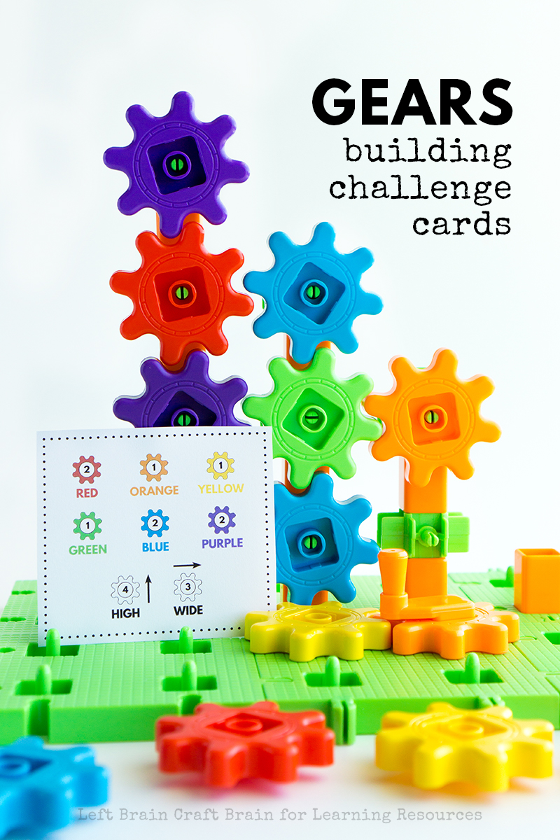 Got a kid that loves things that move? Then gears are one something they can totally get into! These Gears Building Challenge Cards are STEM made fun.