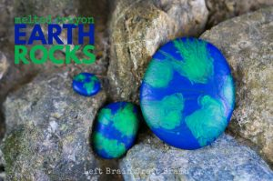 Earth Melted Crayon Rocks Craft