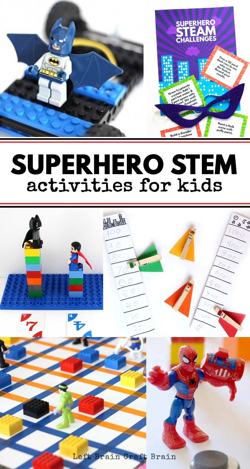 superhero stem activities for kids left brain craft brain