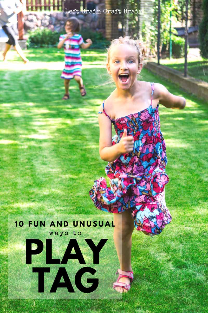 10 fun and unusual ways to play tag, kids' favorite game. Games like toilet tag, rocket ship tag, Bom, Bom, Bom and more are perfect for recess or the park.