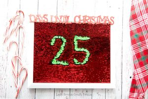Mermaid Sequin Christmas Countdown Board