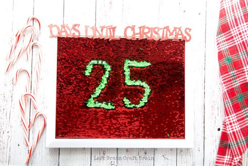 Mermaid Sequin Christmas Countdown Board