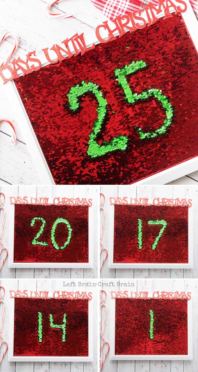 Make this sparkly and festive Mermaid Sequin Christmas Countdown for the kids. It's super easy and super fun to play with for both you and the kids!