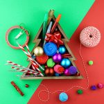 Dollar Store Christmas Tinkering Tray for Preschoolers