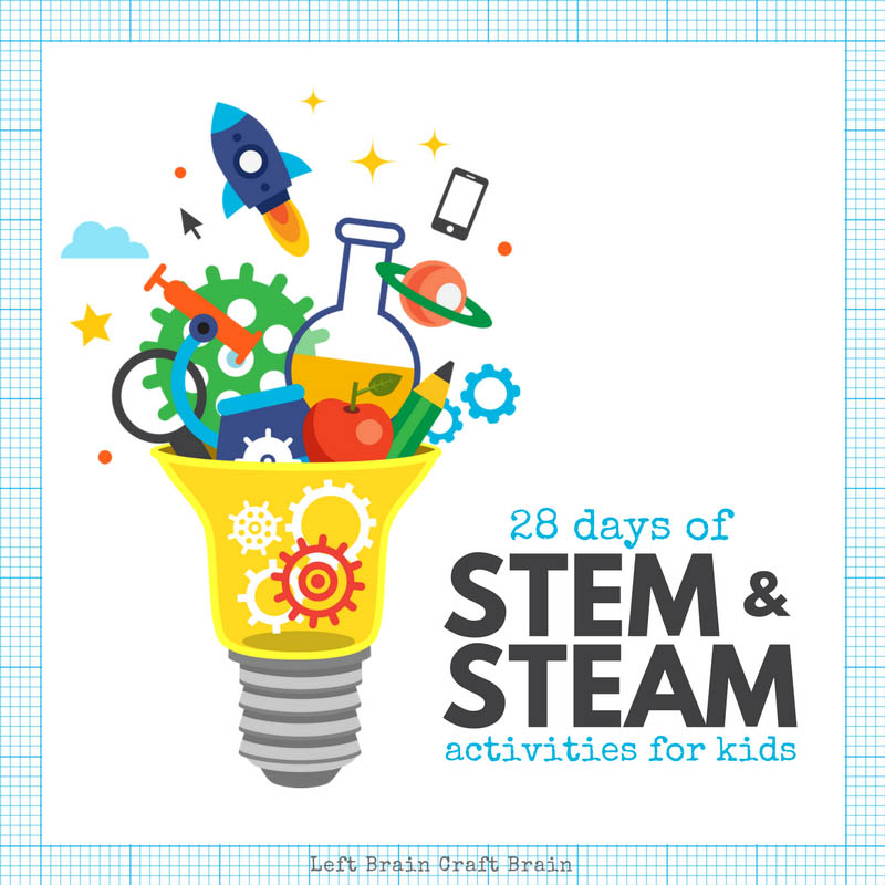 28 Days Of Stem Activities And Steam Activities For Kids Left