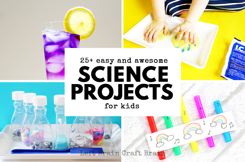 25+ Easy and Awesome Science Projects for Kids - Left Brain Craft Brain
