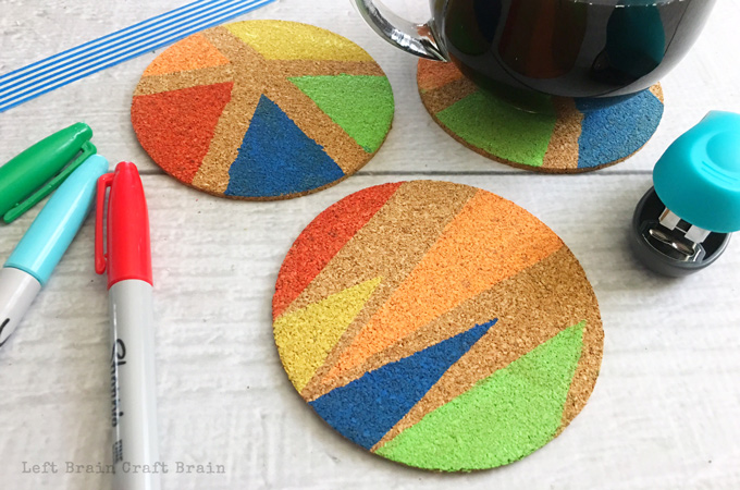 Homemade Gifts: How to Make Math Painted Coasters