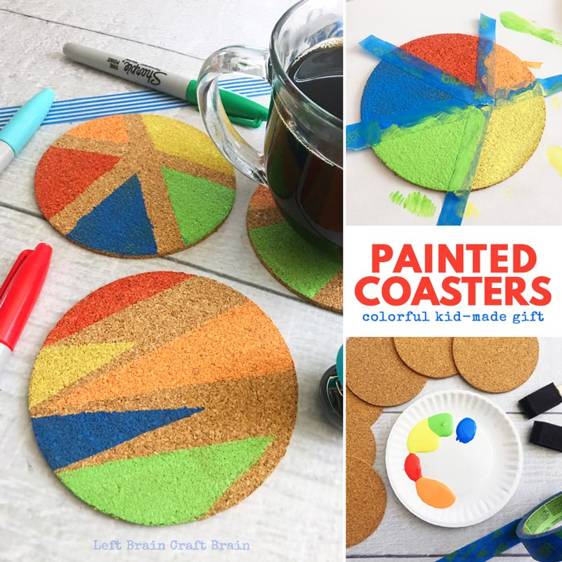 How to make painted cork coasters