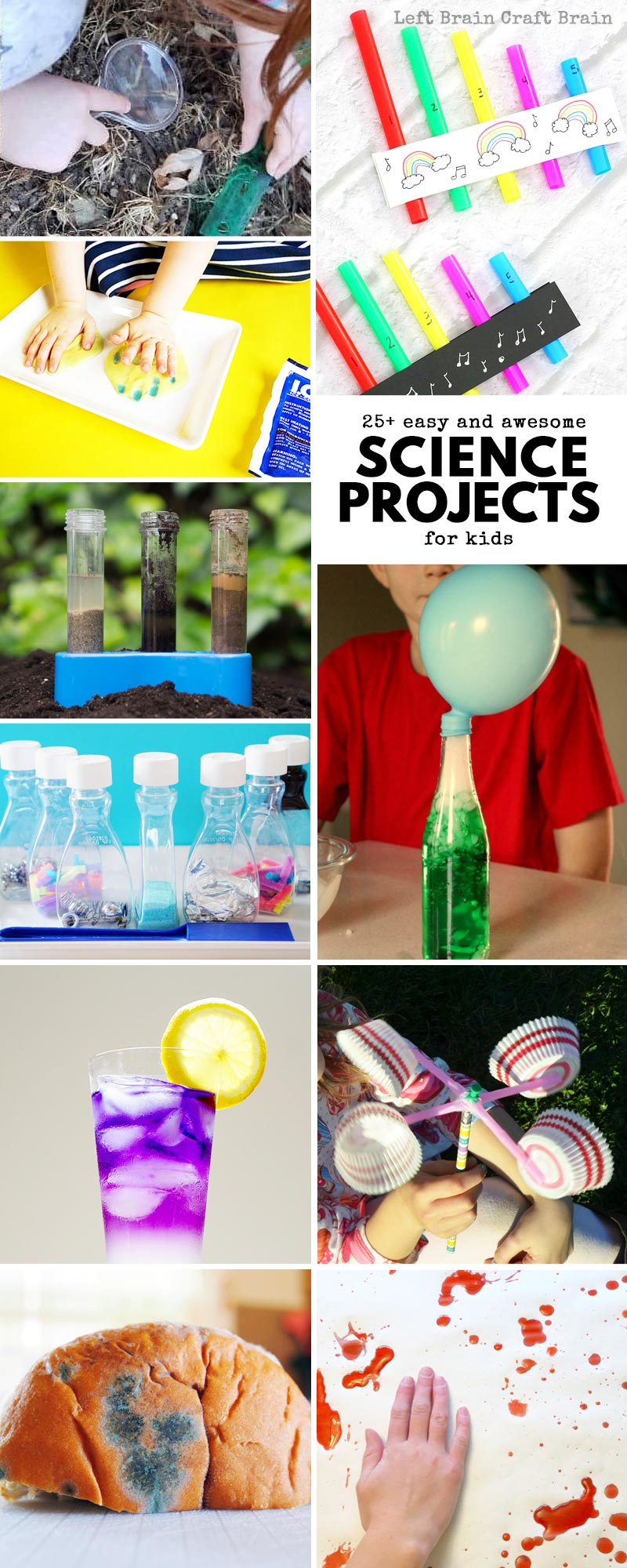25 Easy And Awesome Science Projects For Kids Left Brain Craft Brain