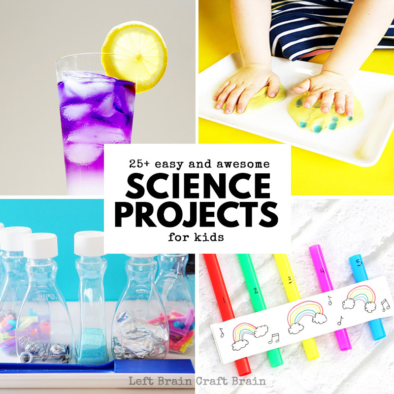 You'll find the coolest science projects for kids right here! 25+ easy and awesome projects perfect for home or school. Plus they're made even better with integrated STEM and STEAM.