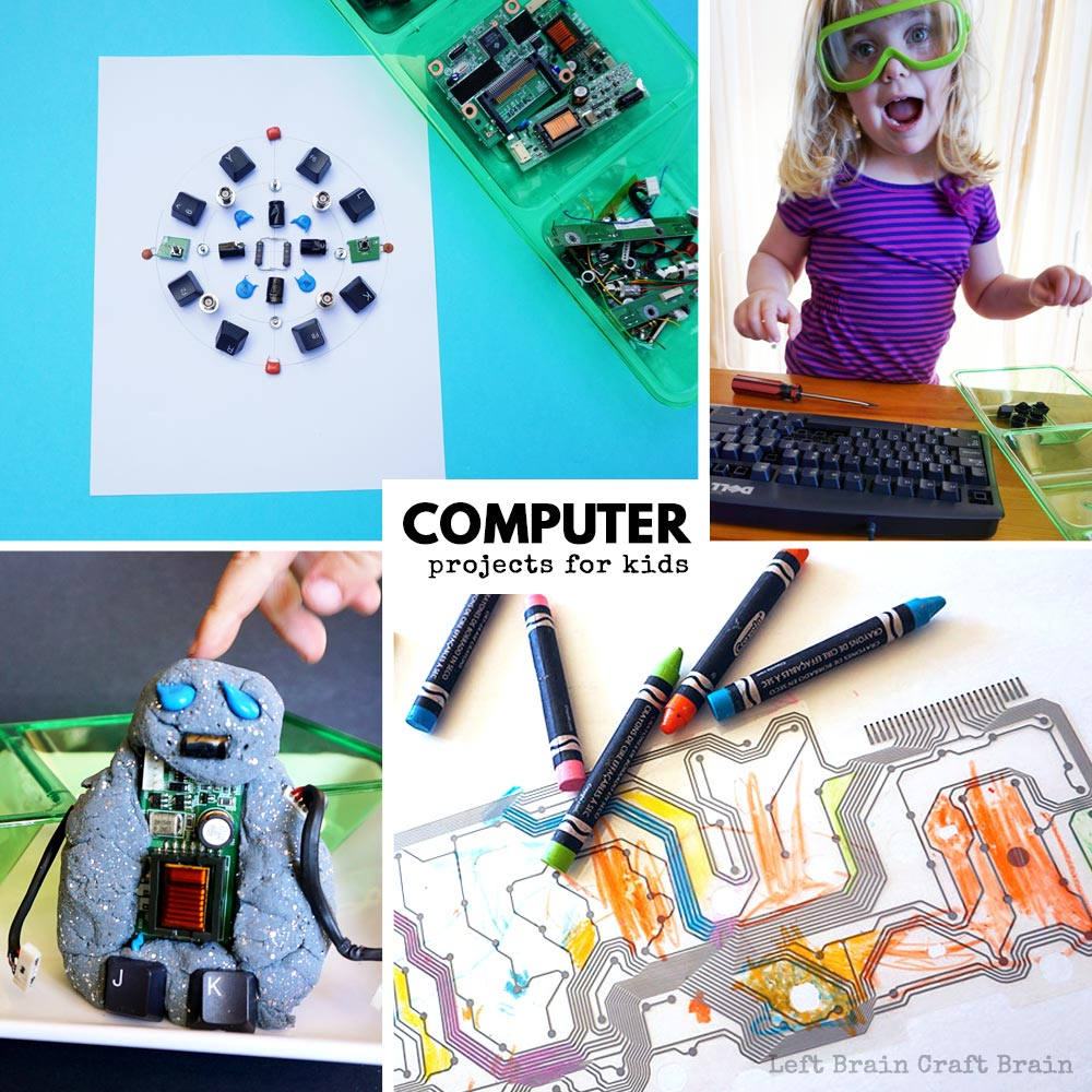 Free Electronic Circuit Projects 20 Technology For Kids Theyll Love Left Brain Craft Activities That Teach About Computers
