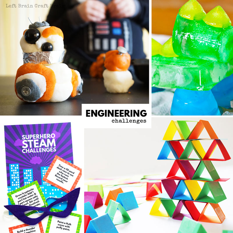 Engineering challenges, STEM challenges, and STEAM challenges