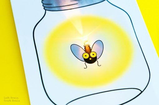 How to Make a Lightning Bug Paper Circuit Card