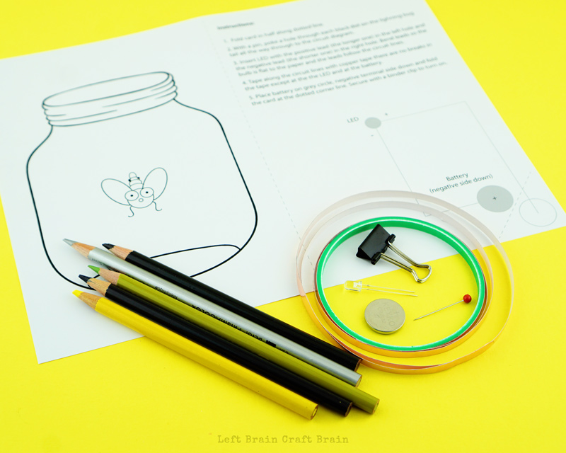 lightning bug paper circuits supplies