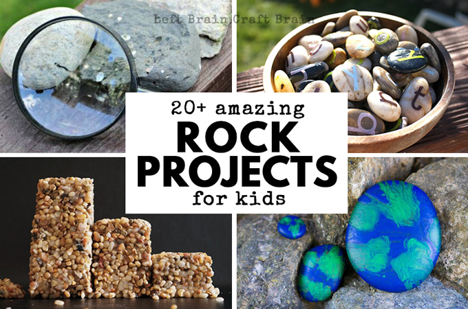 20+ Amazing Rock Projects to Do with Kids - Left Brain Craft