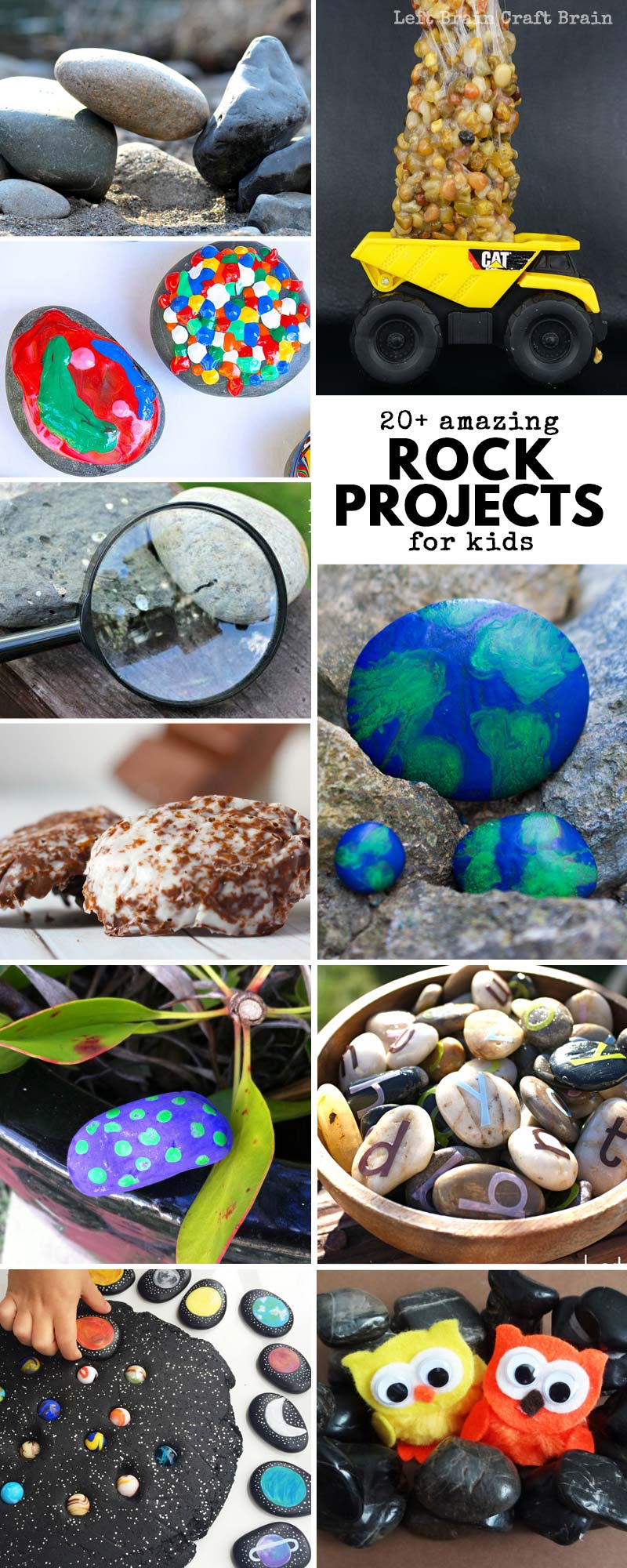 Try these Amazing Rock Projects to Do with Kids! Kids will love DIY rock crafts, rock play, and rock science! Rocks projects are cheap and easy ways to keep entertained this spring. Perfect for Earth Day or any other day of the year!