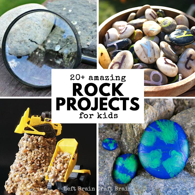 20 Amazing Rock Projects To Do With Kids Left Brain Craft