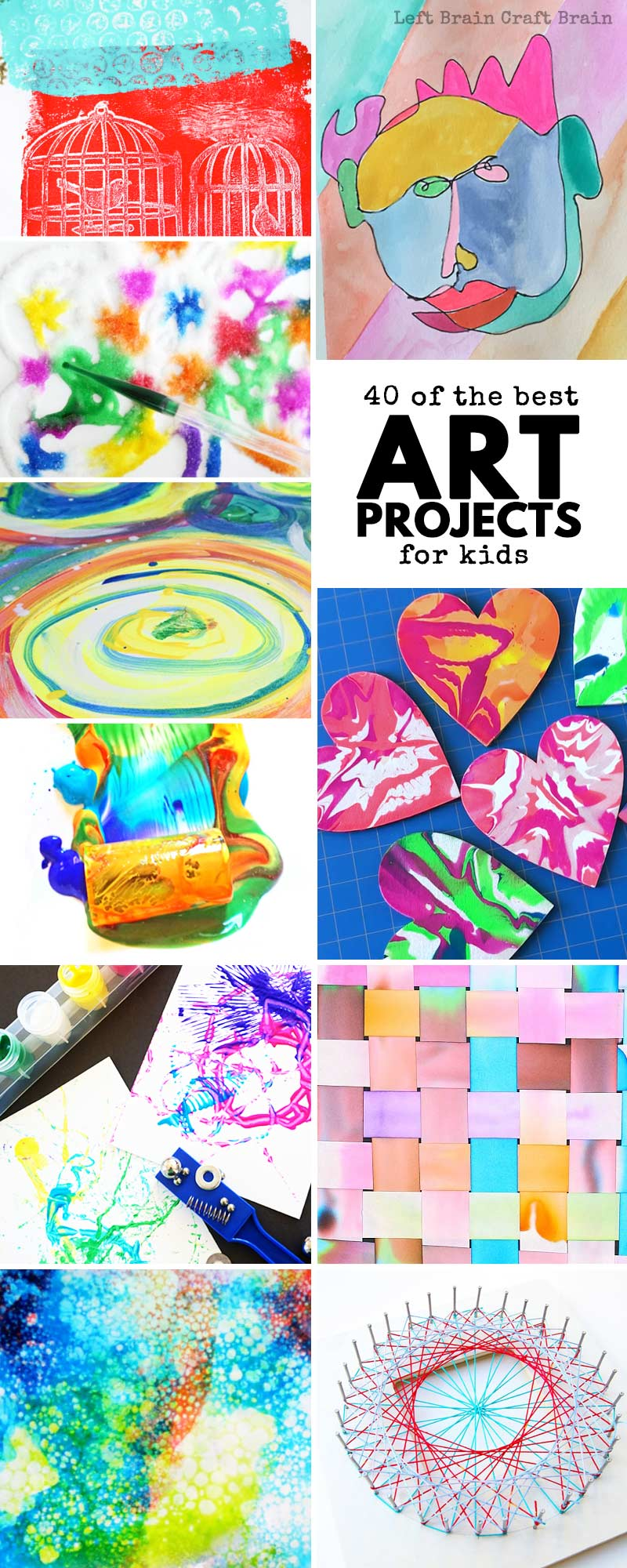 40 of the best art projects for kids left brain craft brain