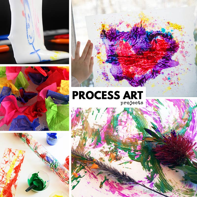 process art projects for kids