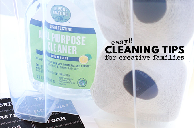 Easy Cleaning Tips for Creative Families