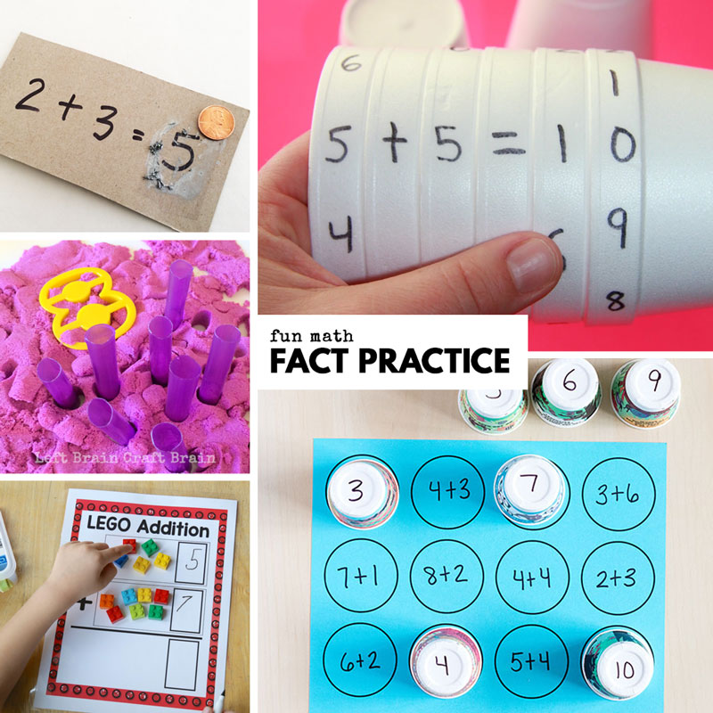 fun math practice like, cup addition, kinetic sand math, lego addition, and scratch off math cards. Fun math activities for kids.