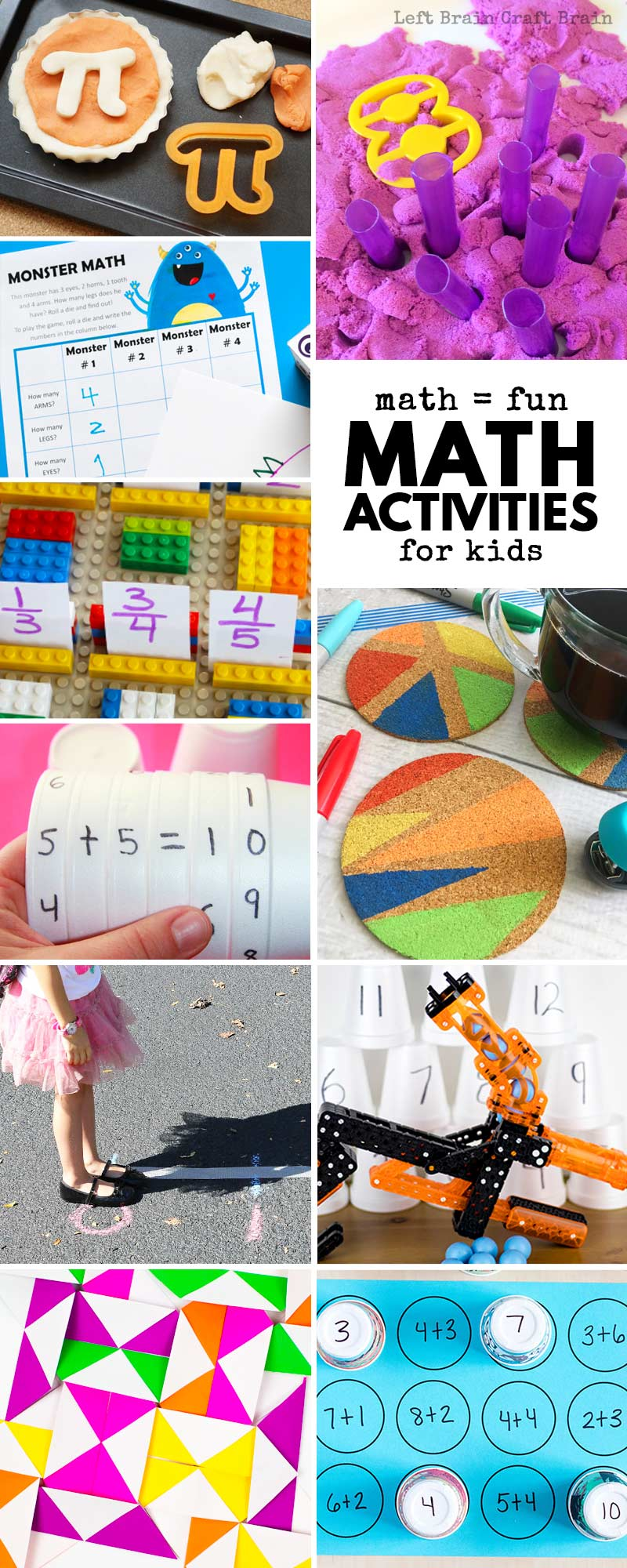 Whether you're practicing math facts or adding new math concepts to your kid's growing math knowledge, these math activities for kids are meant for you to help your kids thrive in our competitive real world. Tons of math printables, hands-on math activities, math games, and more.