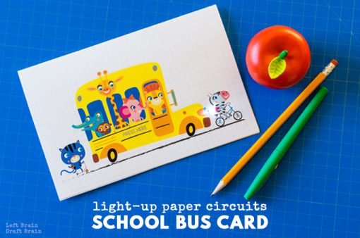 How to Make a Light-Up Paper Circuits School Bus Card