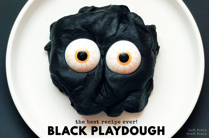 How to Make the Best Black Playdough Recipe Ever!