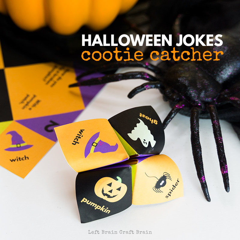 Print and fold this fun Halloween Jokes Cootie Catcher this October! The kids will learn how to make a cootie catcher and have fun telling jokes to friends and family this Halloween. It's a classic origami fortune teller.