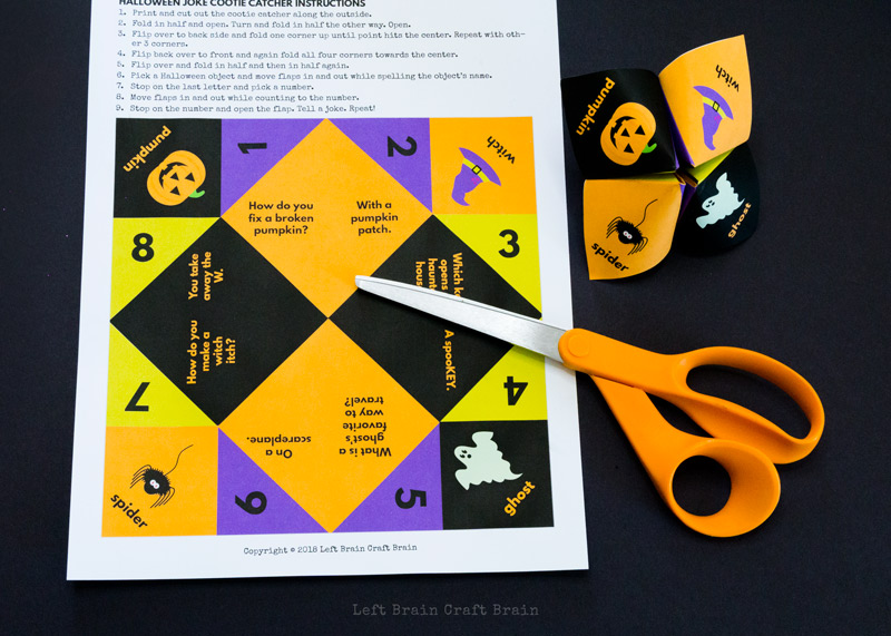 halloween jokes paper fortune teller supplies