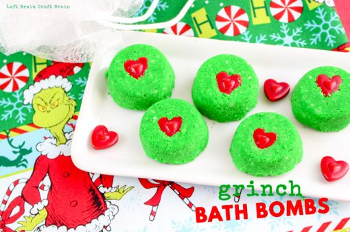 Christmas Science: How to Make Grinch Bath Bombs