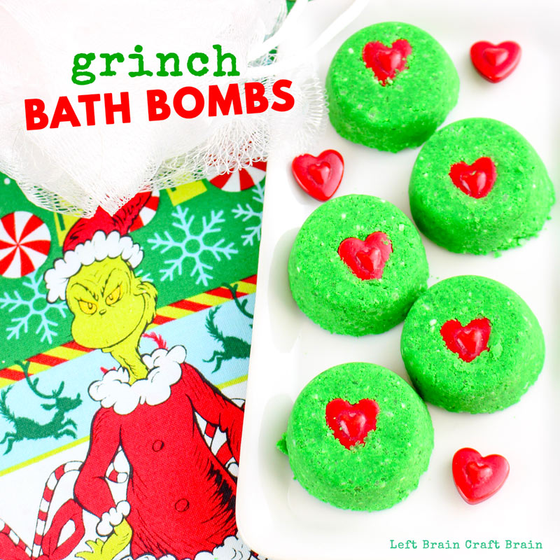 Grab a copy of the Grinch and enjoy the Christmas holidays with these Grinch Bath Bombs. They're a wonderful way to explore sensory science with a festive spin.