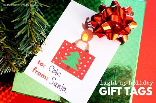 Christmas STEM: Light Up Holiday Gift Tags