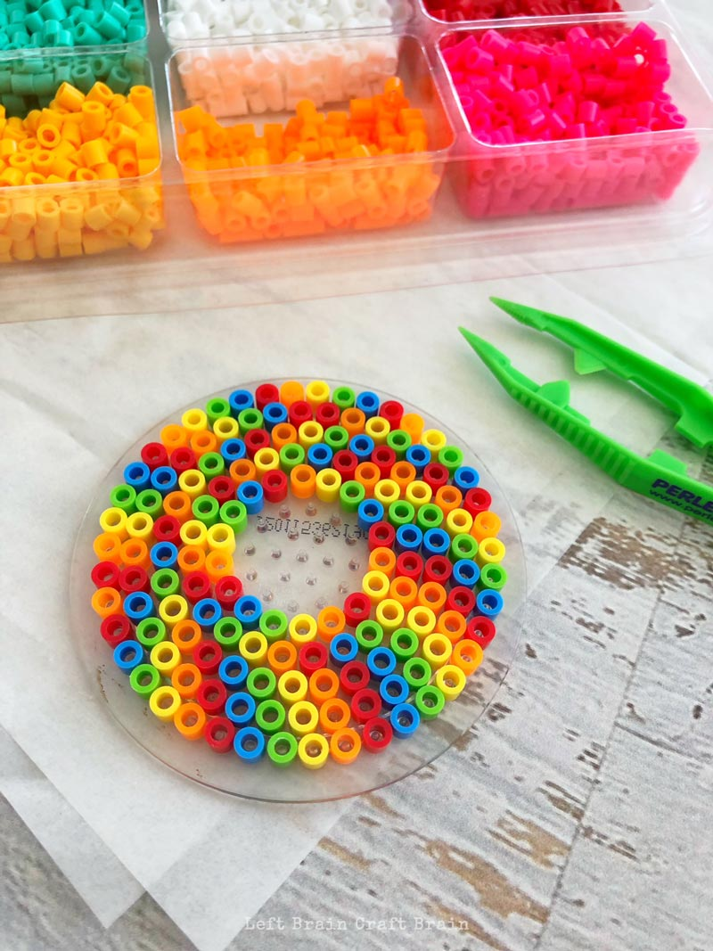 How to Make this Colorful Perler Beads Change Holder