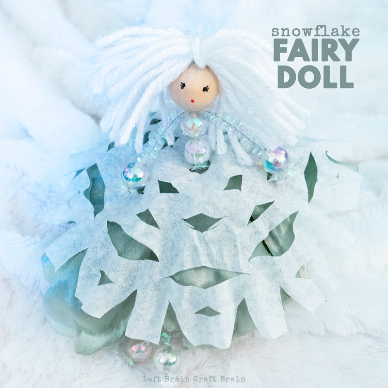 Make this sweet and magical Snow Fairy Doll from paper snowflakes and silk flowers. Each one is wonderfully unique, just like snowflakes! This is a festive kid-made ornament or craft for the Christmas tree or anytime this winter.