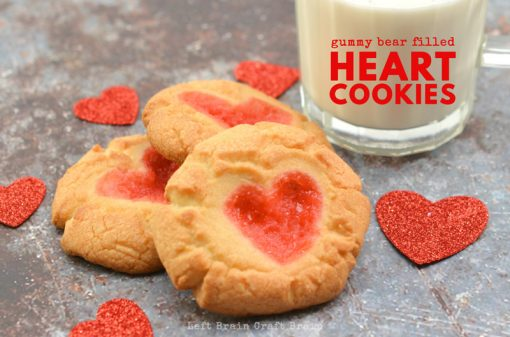 How to Make These Super Easy Gummy Bear Filled Heart Cookies