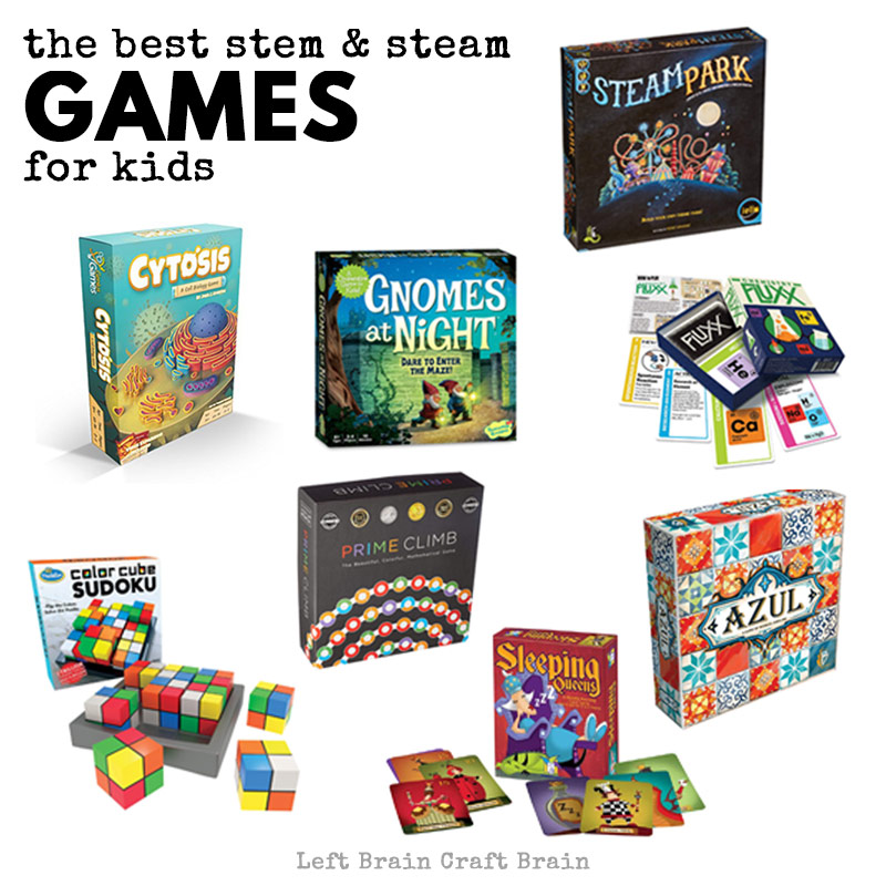 Check out this list of exciting STEM games for kids. Games are a fantastic way to help kids learn math and science while having fun!