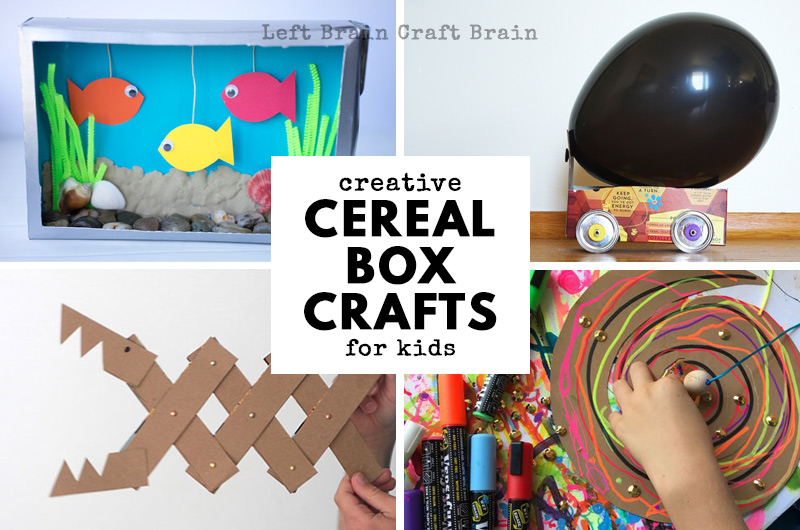 30 Shoe Box Craft Ideas: 30+ Super Creative Cereal Box Crafts And Projects For Kids