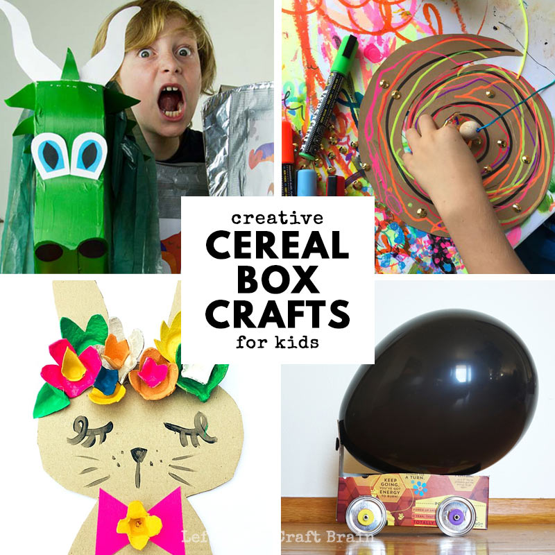 super creative cereal box crafts for kdis