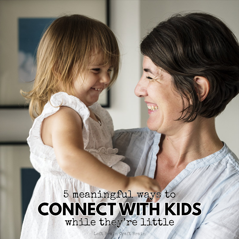 How to build a relationship with your 3-7 year old: 5 easy ways to prioritize a connection with kids in the preschool and early elementary years.