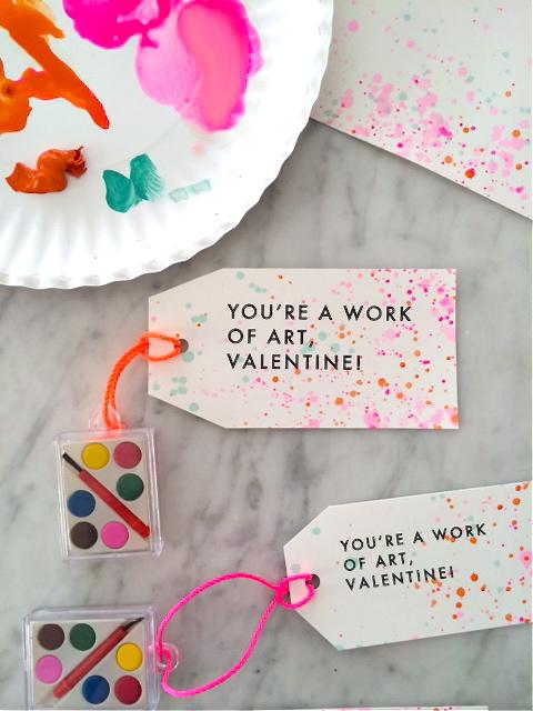paint splatter Valentines