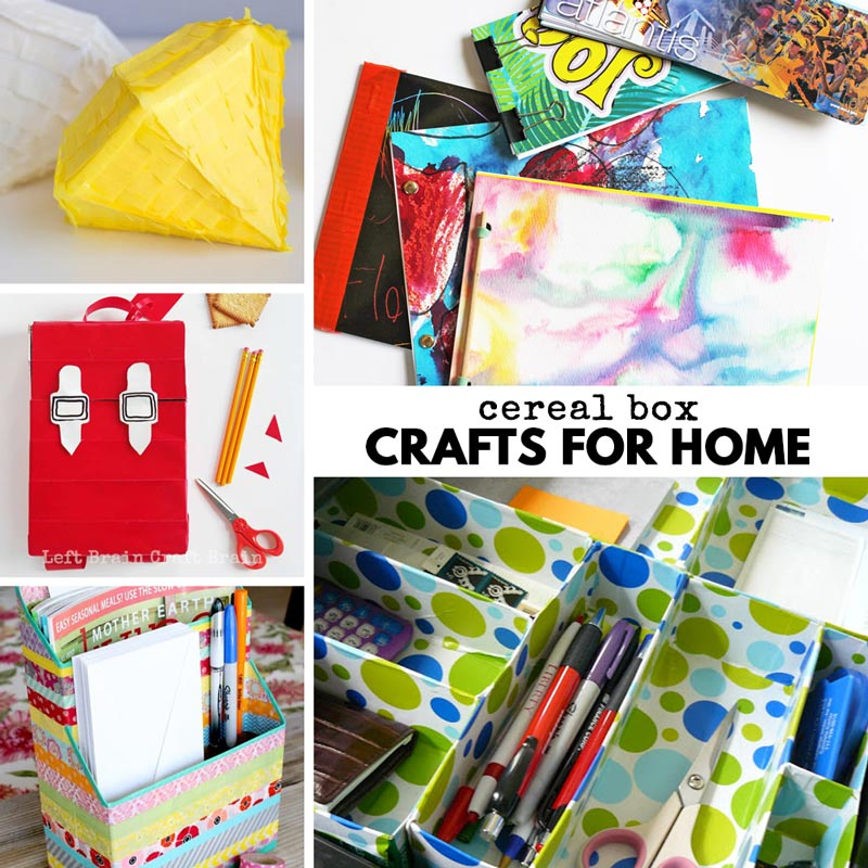 cereal box gifts and crafts for home