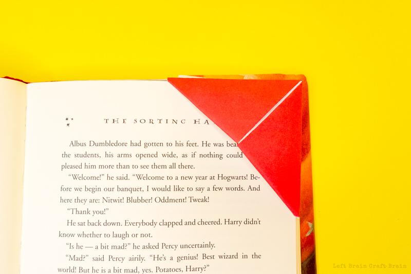 origami corner bookmark