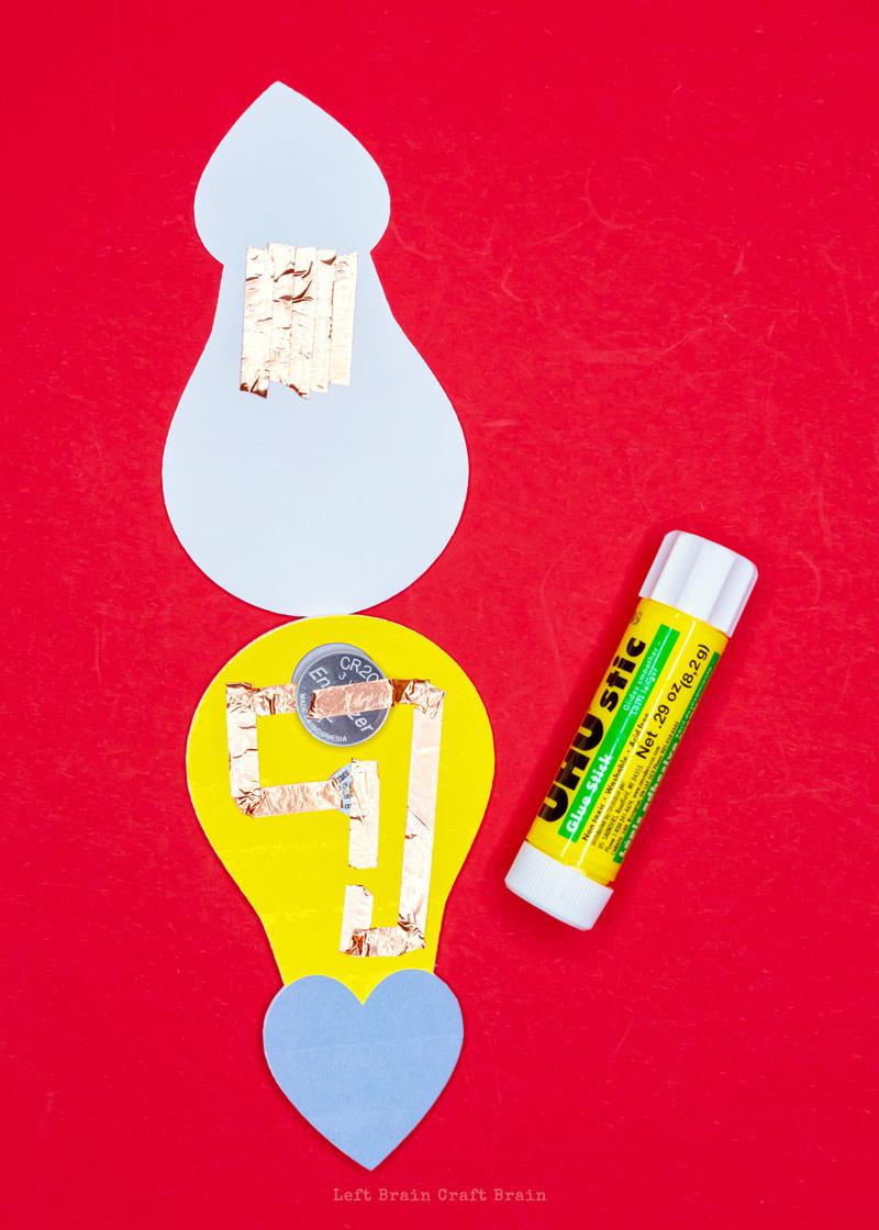 glue the circuit bulb into the outer bulbs
