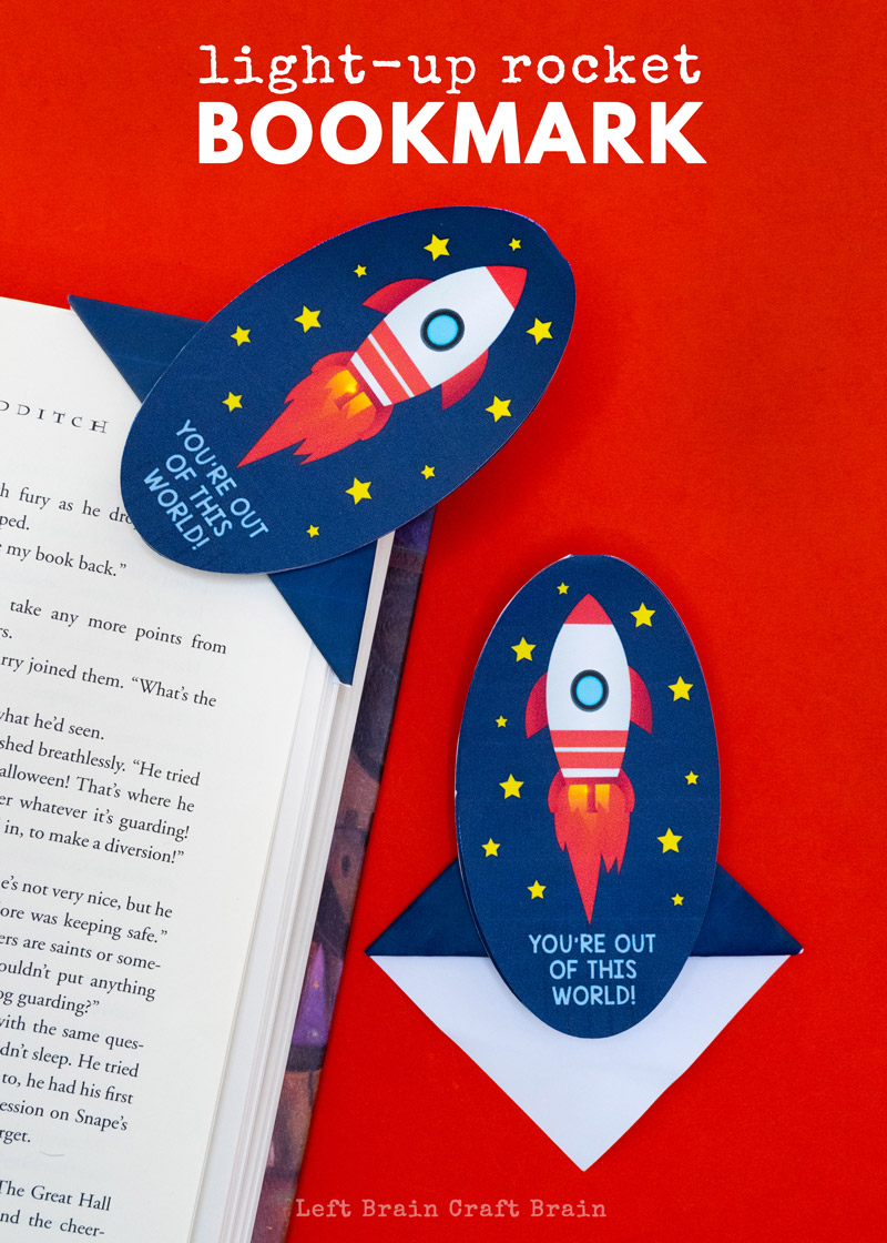 This Light-Up Rocket Corner Bookmark is a cool way to introduce kids to circuits and origami. It's a perfect STEM or STEAM activity for home and school.