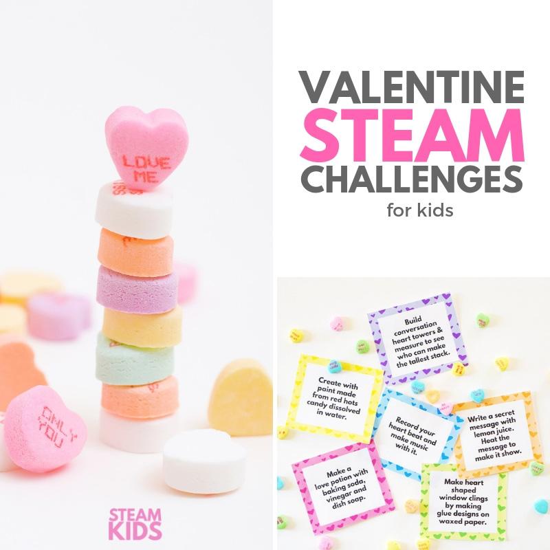 Valentine STEAM Challenges for Kids