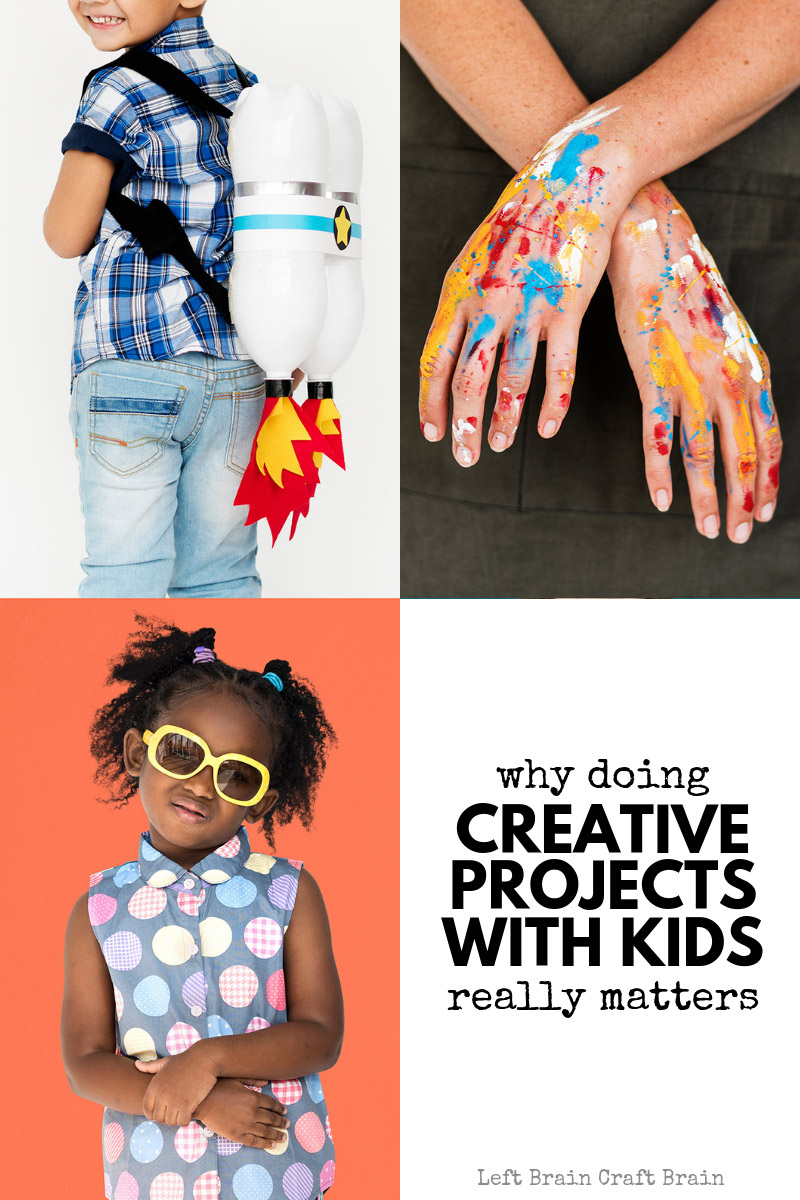 Doing creative projects with your kids really matters. Here are concrete reasons why and ways to think beyond plain art with hands-on creative thinking projects in science, technology, engineering, art, and math. STEM and STEAM are fun for kids too!
