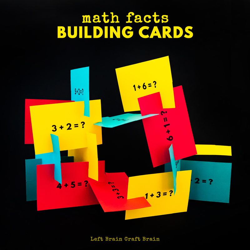 Upgrade your next math worksheet with some hands-on fun! Kids will love these math facts building cards which add some engineering to their next math session. STEM makes learning more fun.