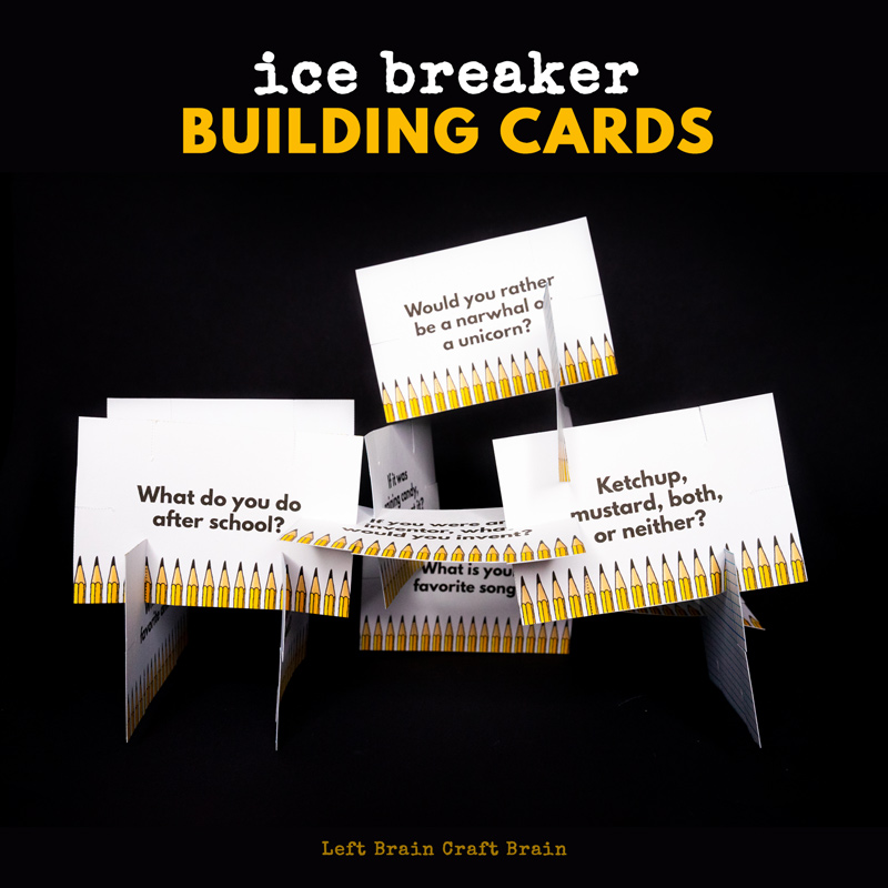 These Ice Breakers Building Cards are a great way to help students ease into school and get to know each other. Plus, they add STEM to back to school!